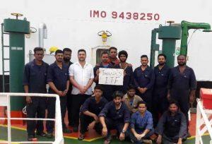 Crew Says Tranks to ITF